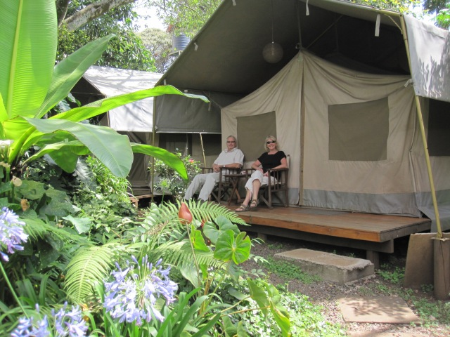 Wildebeest Camp safari tents