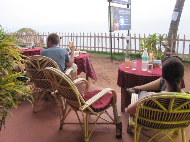 Ocean-front loungers, discreet beer