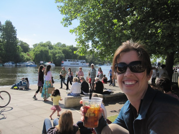 Pimm's on the Thames