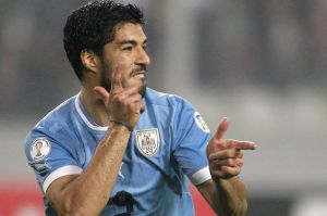 Luis Suarez Double Guns