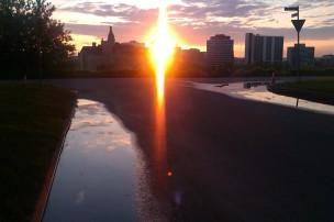 Sunset Across the South Saskatchewan