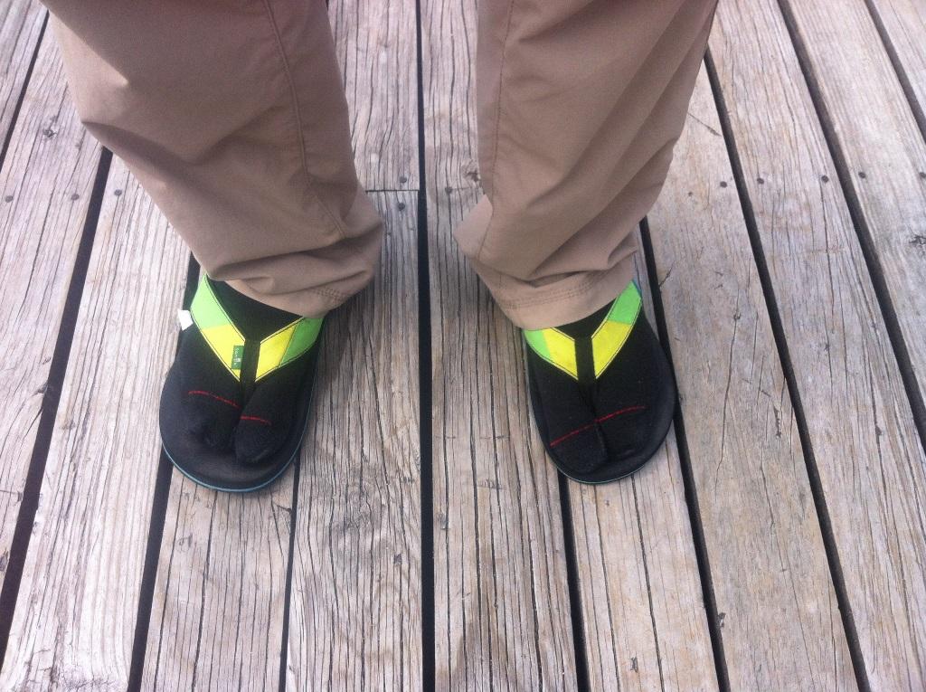 Split-toed socks circa Bev Johnston 2015