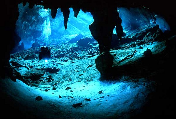 Under the labyrinth in Gran Cenote