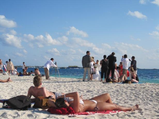 Photo of a beach wedding, of course