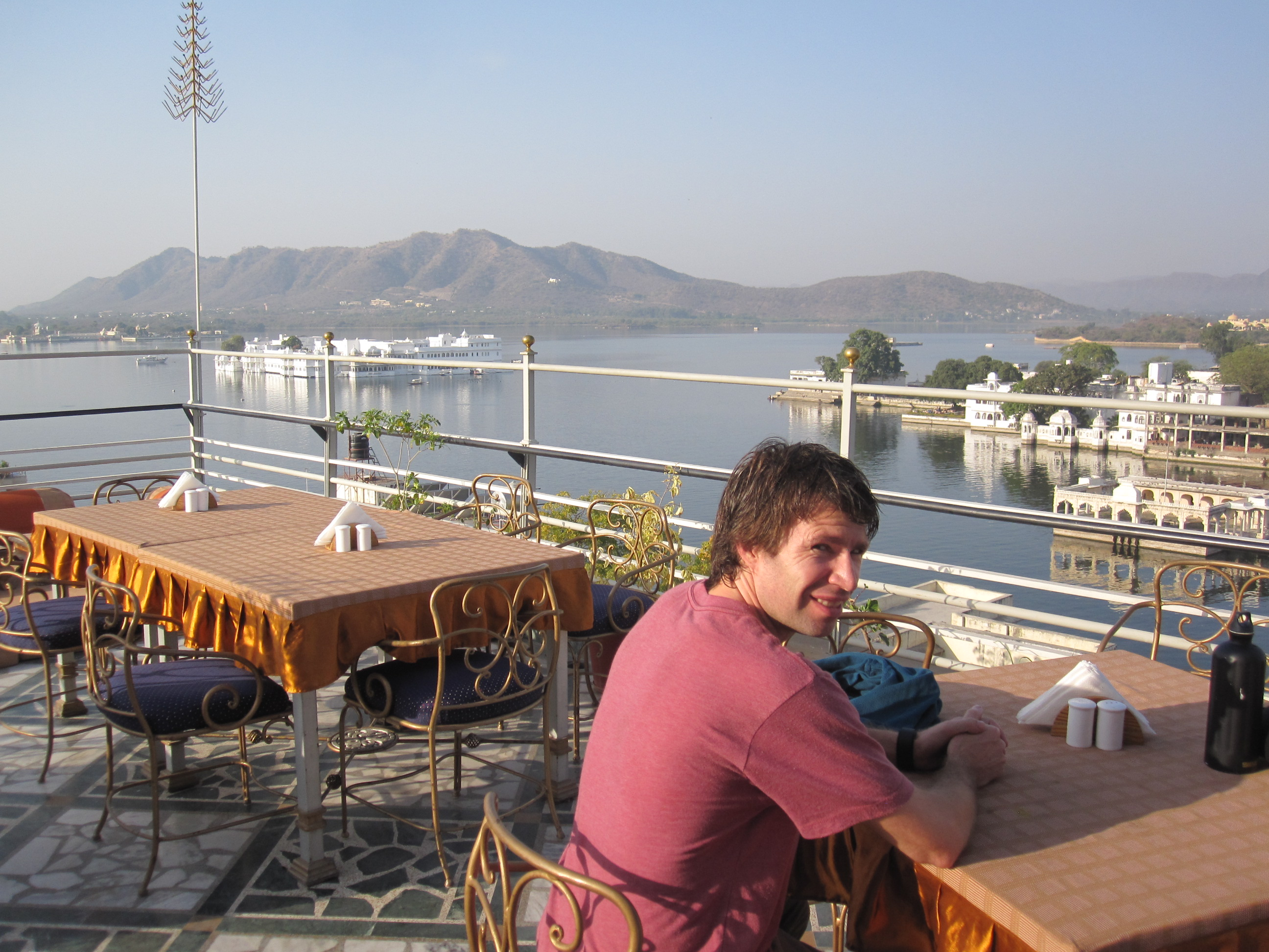 Squinting on the Mewar rooftop