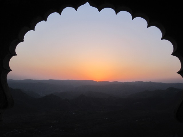 Sunset from Monsoon Palace