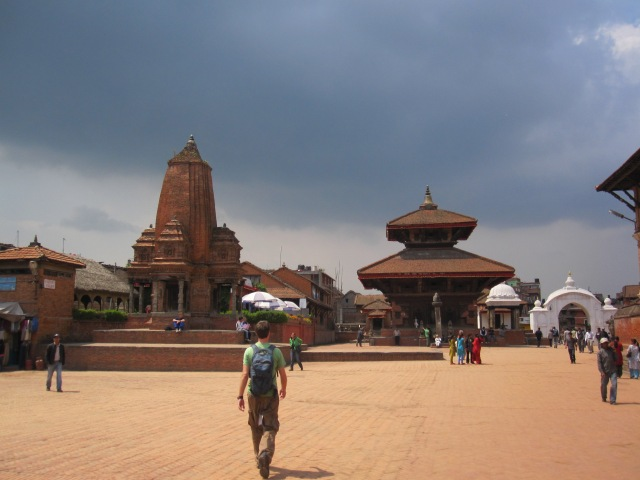 Durbar Square under a pending storm