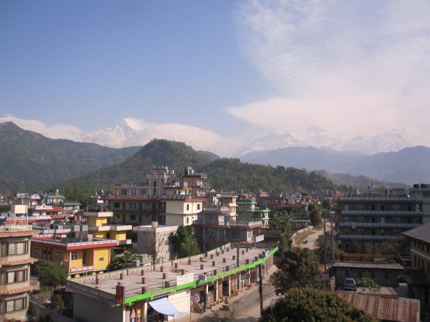 View from roof - Pokhara