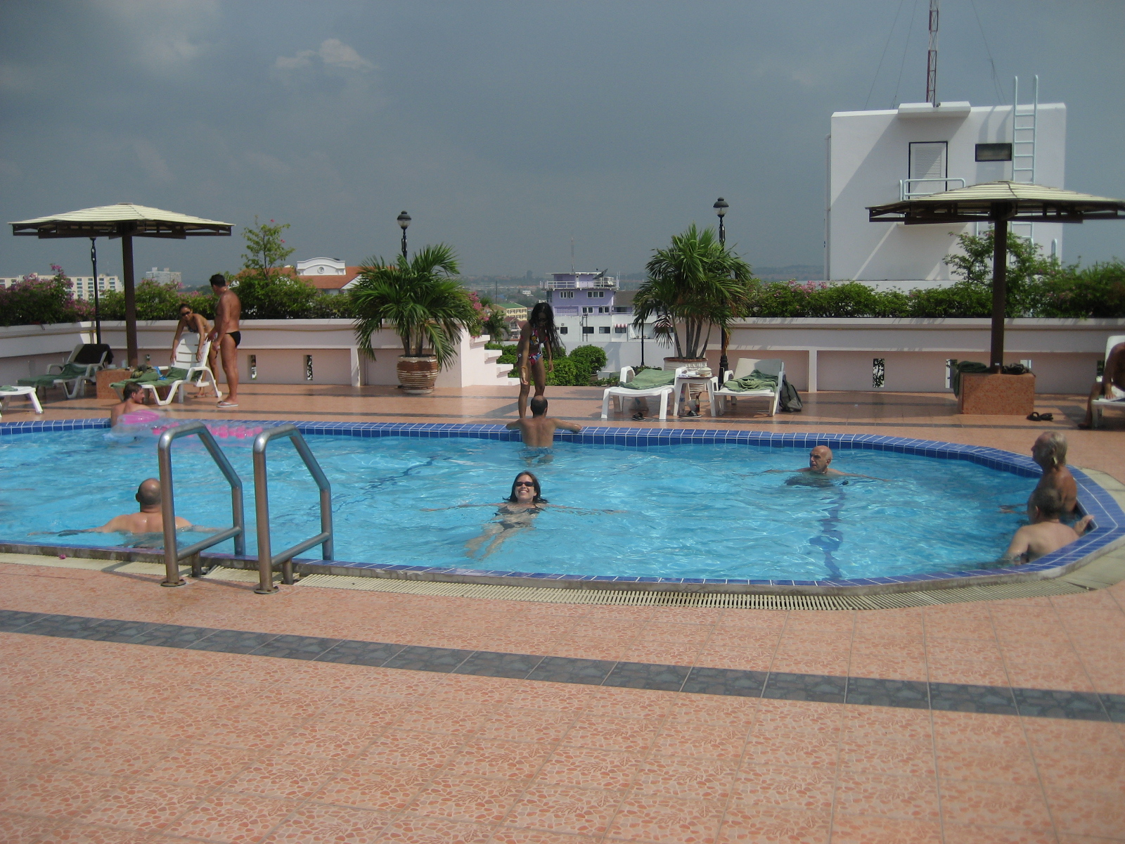 Our rooftop pool slash couple's club