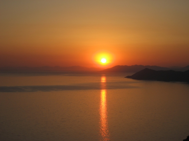 Sunset over the Mediterranean