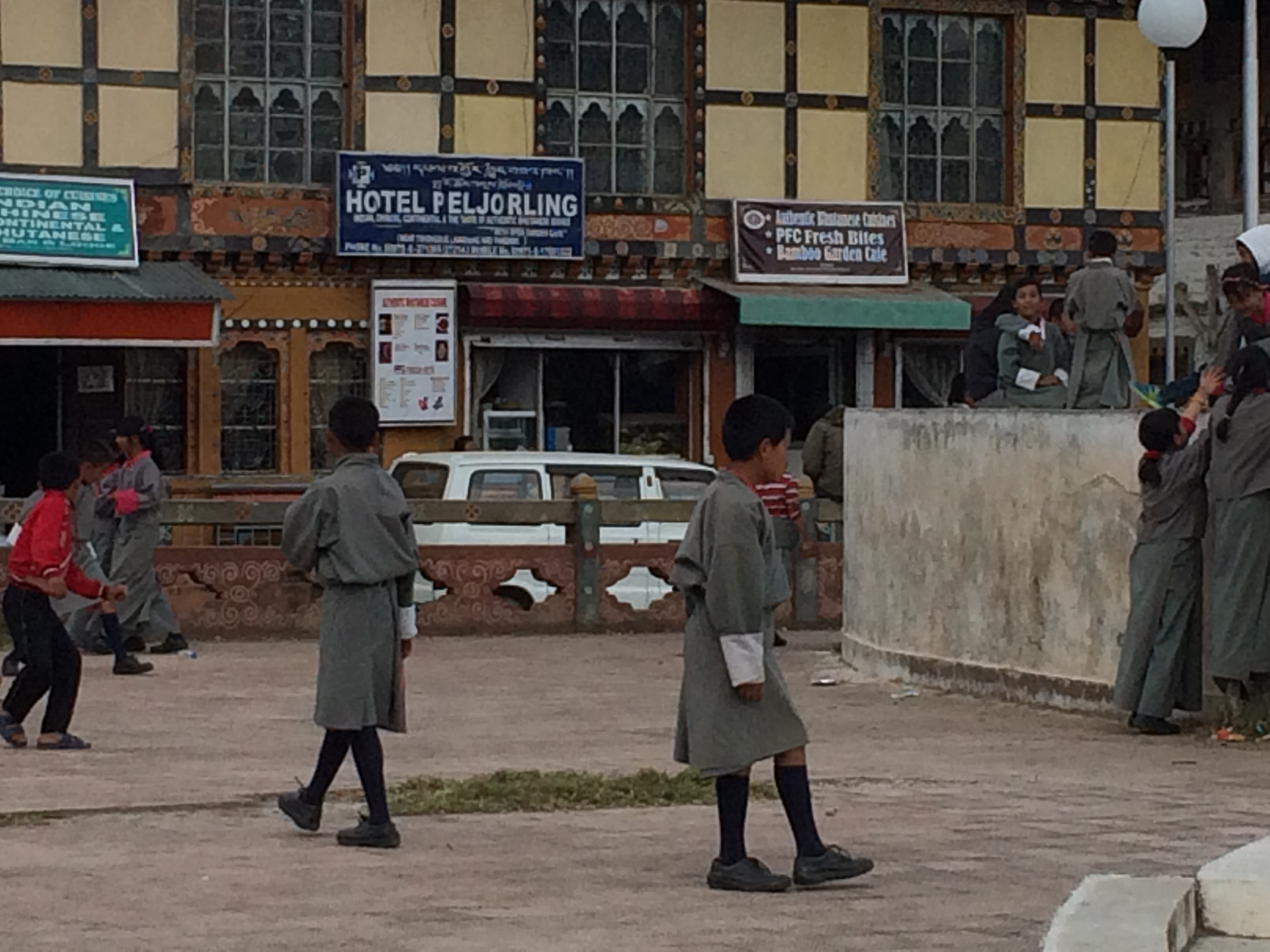 School kids in traditional dress