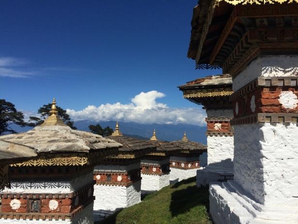 A few of the 108 Stupas of Dochula Pass