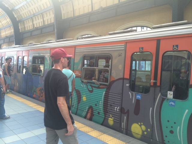 Boarding the metro