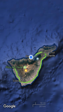 Where we were on Tenerife