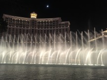 Bellagio fountains by night