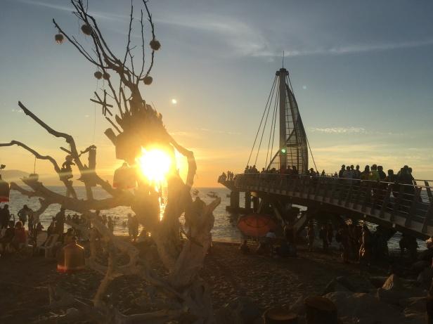 Muelle Los Muertos sunset